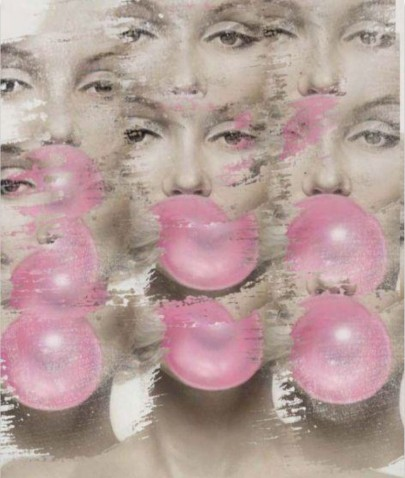 Marilyn Monroe - Pink Bubble (Print)